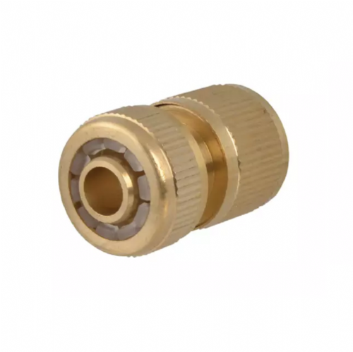 "Faithfull Brass Female Waterstop Hose Connector 12.5mm (1/2"")"